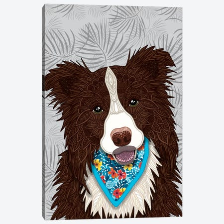 Tropical Red Border Collie Boy Canvas Print #ANG195} by Angelika Parker Art Print