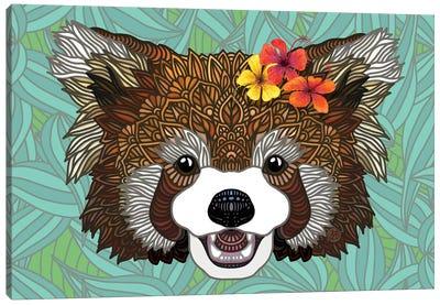 Tropical Red Panda Canvas Art Print