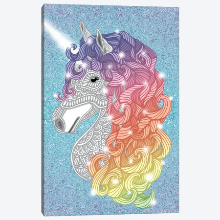 Unicorn Canvas Print #ANG198} by Angelika Parker Canvas Art