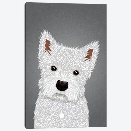 West Highland Terrier Canvas Print #ANG199} by Angelika Parker Canvas Wall Art