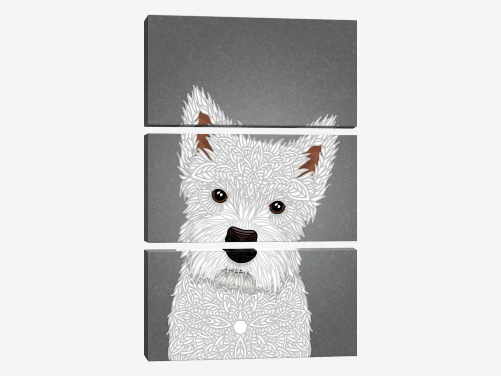 West Highland Terrier by Angelika Parker 3-piece Canvas Wall Art