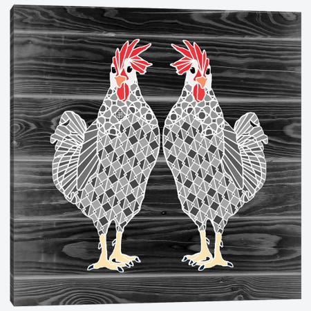 Chicks Canvas Print #ANG19} by Angelika Parker Canvas Art