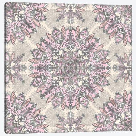 Rose Mandala Canvas Print #ANG205} by Angelika Parker Art Print