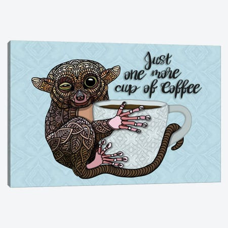 Tarsier Coffee Canvas Print #ANG210} by Angelika Parker Canvas Art Print