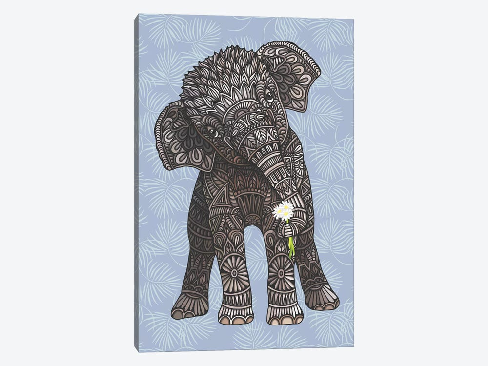Baby Elephant - Blue by Angelika Parker 1-piece Canvas Wall Art