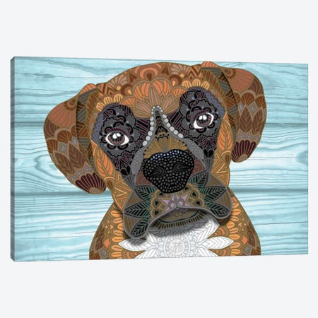 Cute Boxer Canvas Print #ANG21} by Angelika Parker Canvas Print