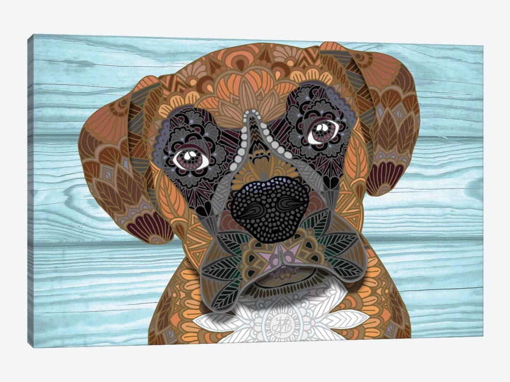 Cute Boxer by Angelika Parker 1-piece Canvas Print