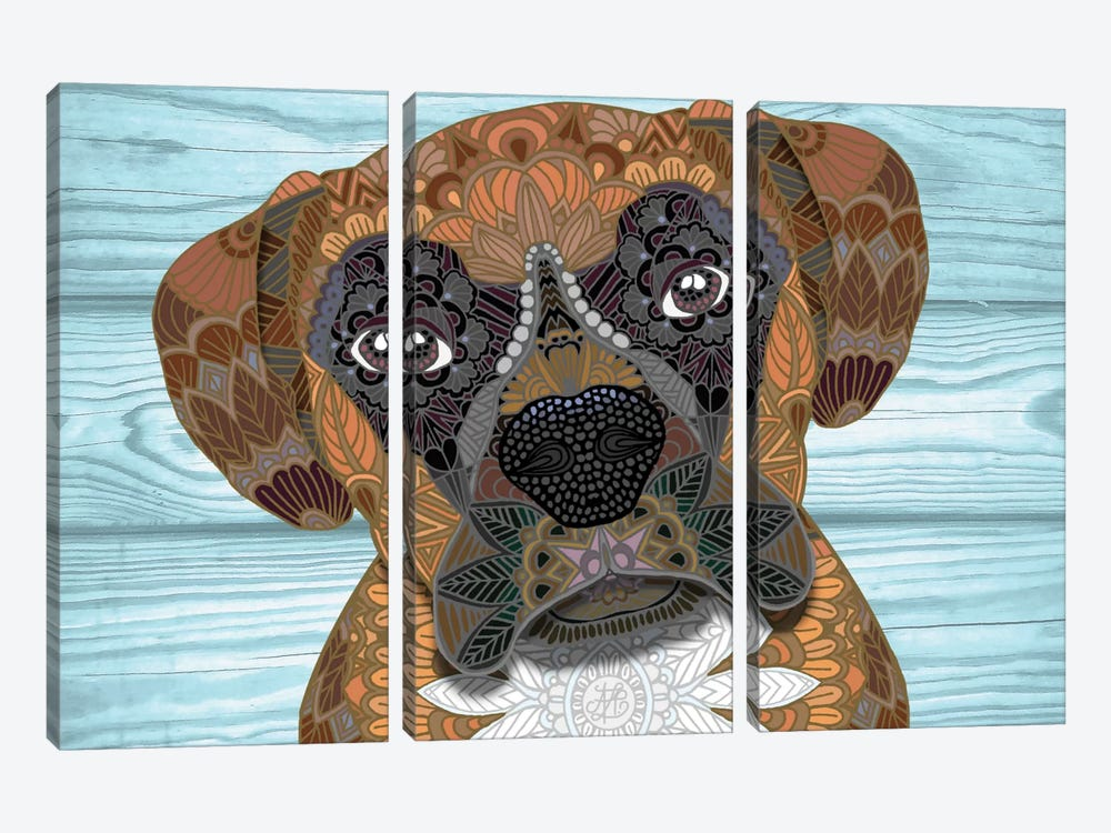 Cute Boxer by Angelika Parker 3-piece Art Print