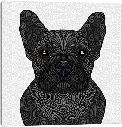 Black Frenchie by Angelika Parker Canvas Art Print