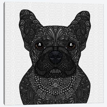 Black Frenchie Canvas Print #ANG220} by Angelika Parker Canvas Wall Art