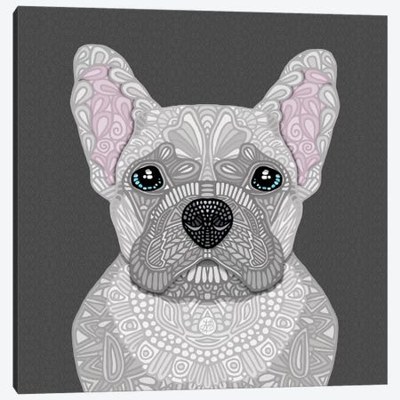 Cream Frenchie Canvas Print #ANG221} by Angelika Parker Canvas Wall Art