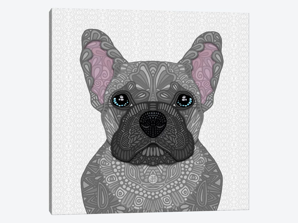 Blue Frenchie by Angelika Parker 1-piece Canvas Wall Art