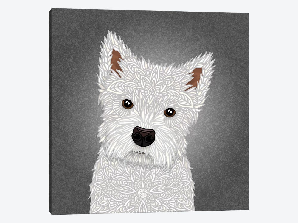 West Highland Terrier by Angelika Parker 1-piece Canvas Print
