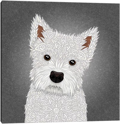 West Highland Terrier by Angelika Parker Canvas Art Print