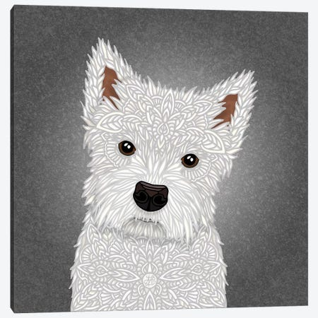 West Highland Terrier Canvas Print #ANG223} by Angelika Parker Canvas Art