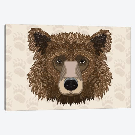 Grizzly Bear - Horizontal Canvas Print #ANG225} by Angelika Parker Canvas Art Print