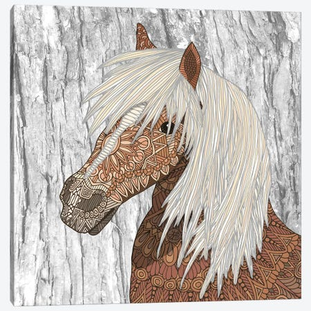 Nickerson - Haflinger Horse Canvas Print #ANG229} by Angelika Parker Canvas Wall Art