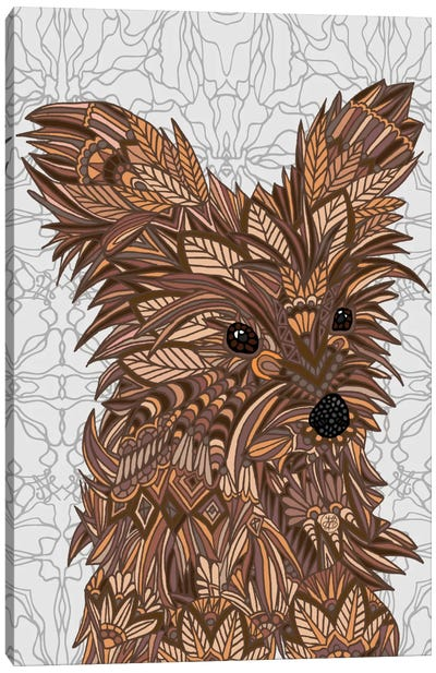 Cute Yorkie by Angelika Parker Canvas Art Print