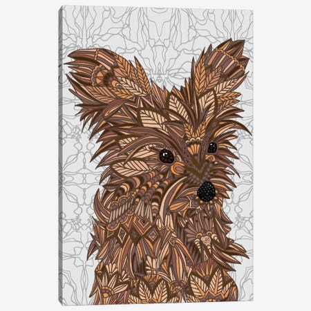 Cute Yorkie Canvas Print #ANG22} by Angelika Parker Canvas Art Print