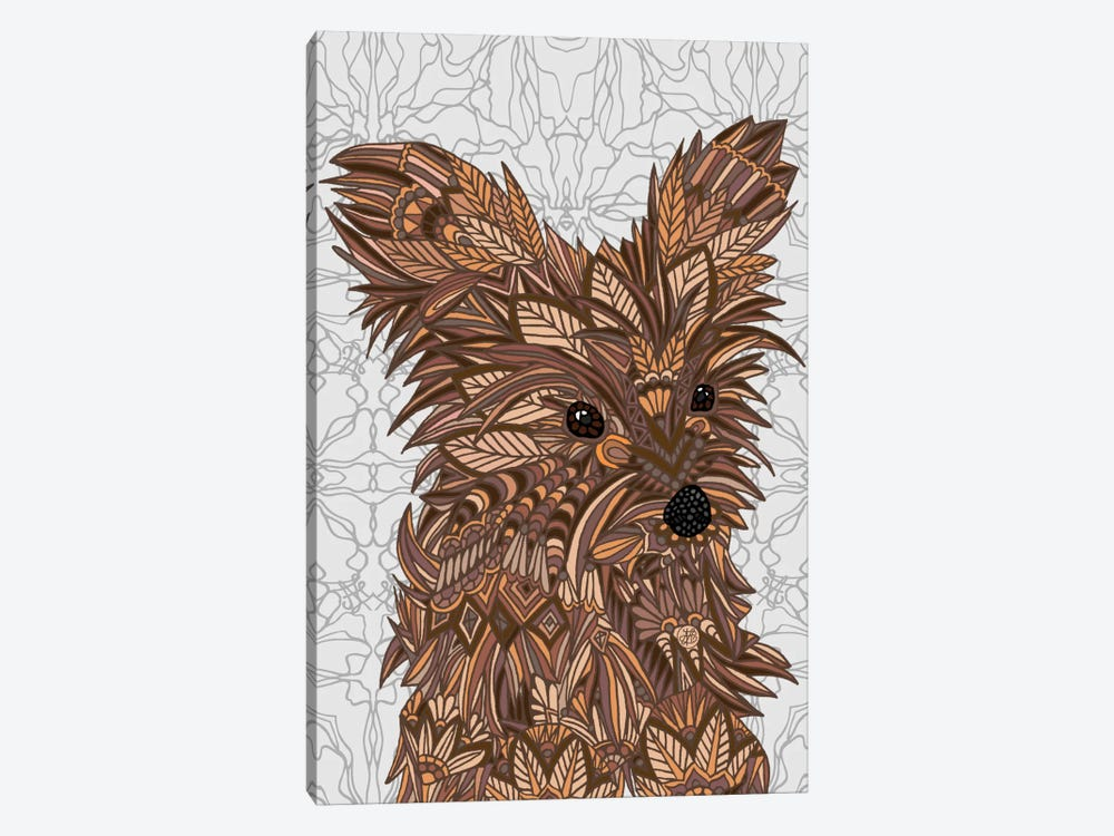 Cute Yorkie by Angelika Parker 1-piece Canvas Wall Art