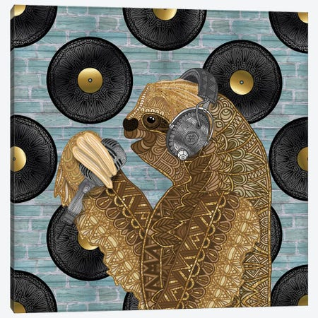 Singing Sloth Canvas Print #ANG231} by Angelika Parker Canvas Art Print