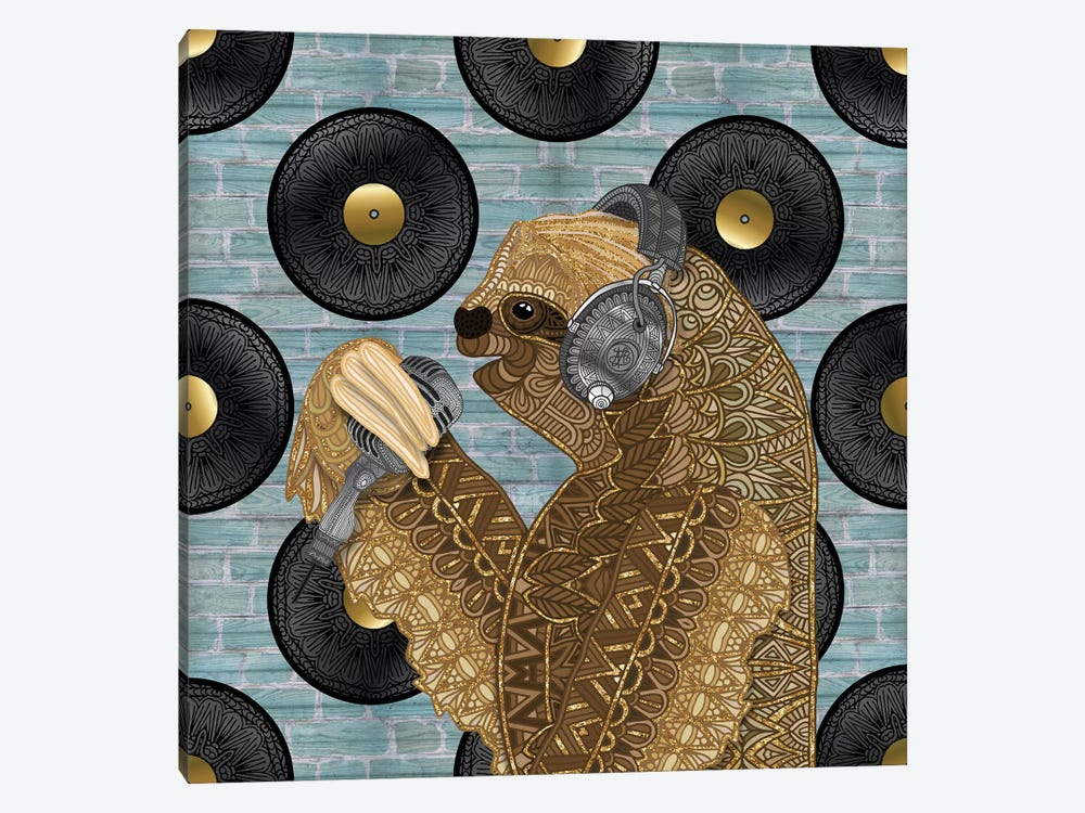 Singing Sloth by Angelika Parker 1-piece Canvas Artwork
