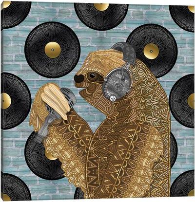Singing Sloth Canvas Art Print