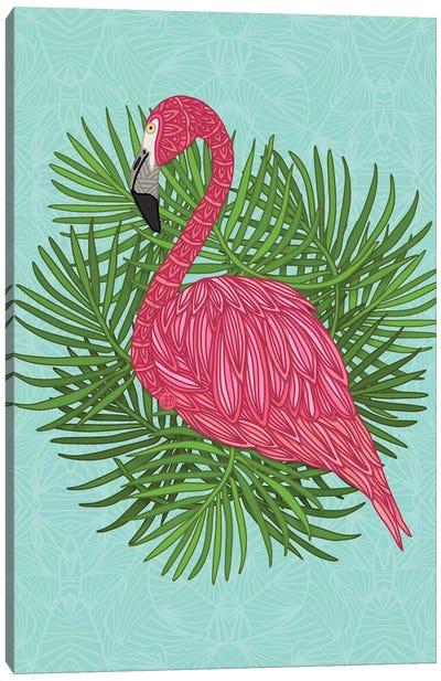 Pink Tropical Flamingo Canvas Art Print