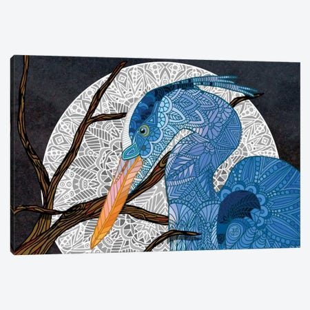Egret Moon Canvas Print #ANG23} by Angelika Parker Canvas Print