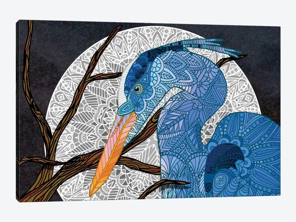 Egret Moon by Angelika Parker 1-piece Canvas Art Print