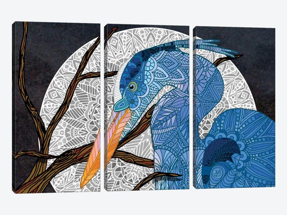 Egret Moon by Angelika Parker 3-piece Canvas Print