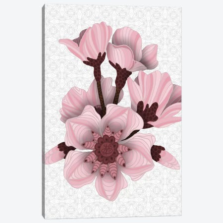 Cherry Blossoms - Light Canvas Print #ANG241} by Angelika Parker Canvas Wall Art