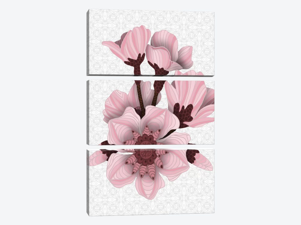 Cherry Blossoms - Light by Angelika Parker 3-piece Canvas Art Print