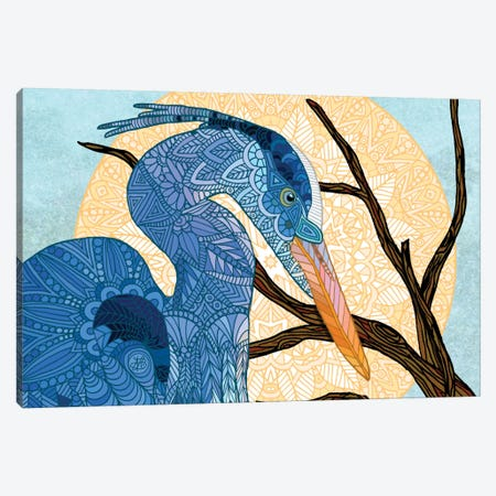 Egret Sun Canvas Print #ANG24} by Angelika Parker Canvas Artwork