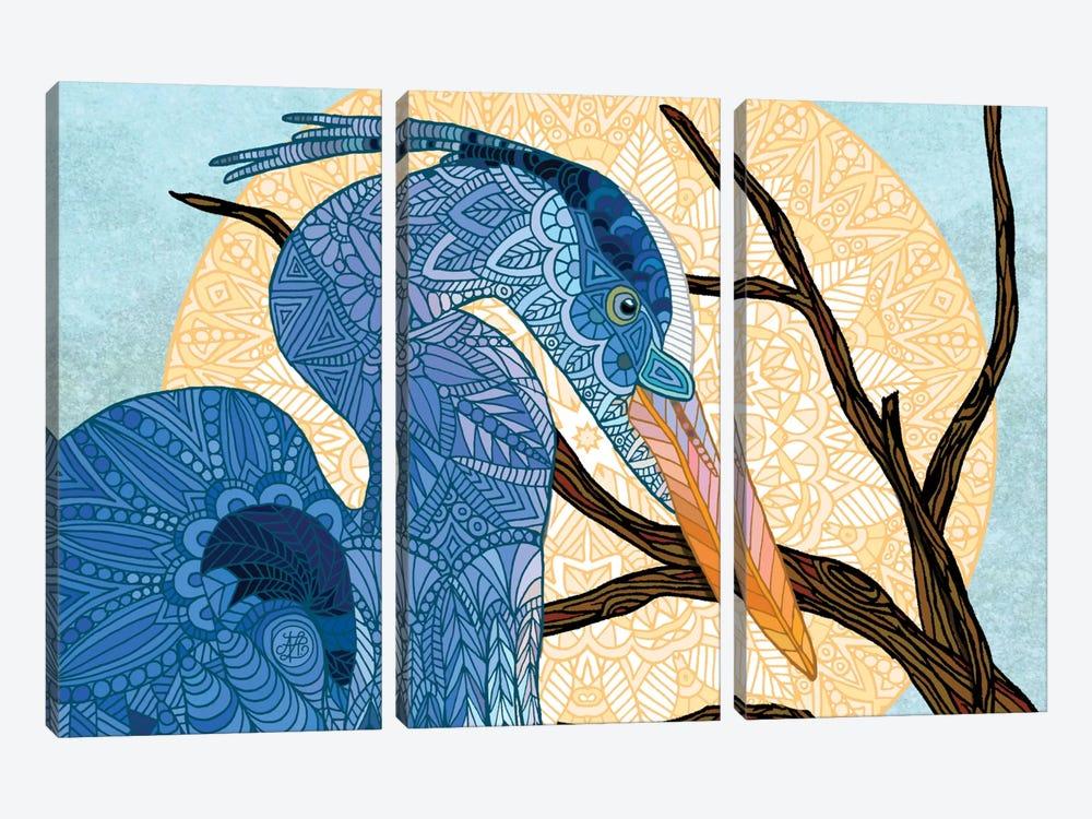Egret Sun by Angelika Parker 3-piece Canvas Art