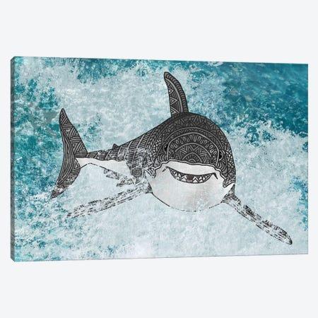 Shark Canvas Print #ANG259} by Angelika Parker Canvas Art Print