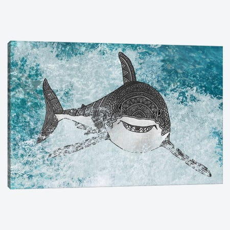 Shark Canvas Print #ANG259} by Angelika Parker Canvas Art Print