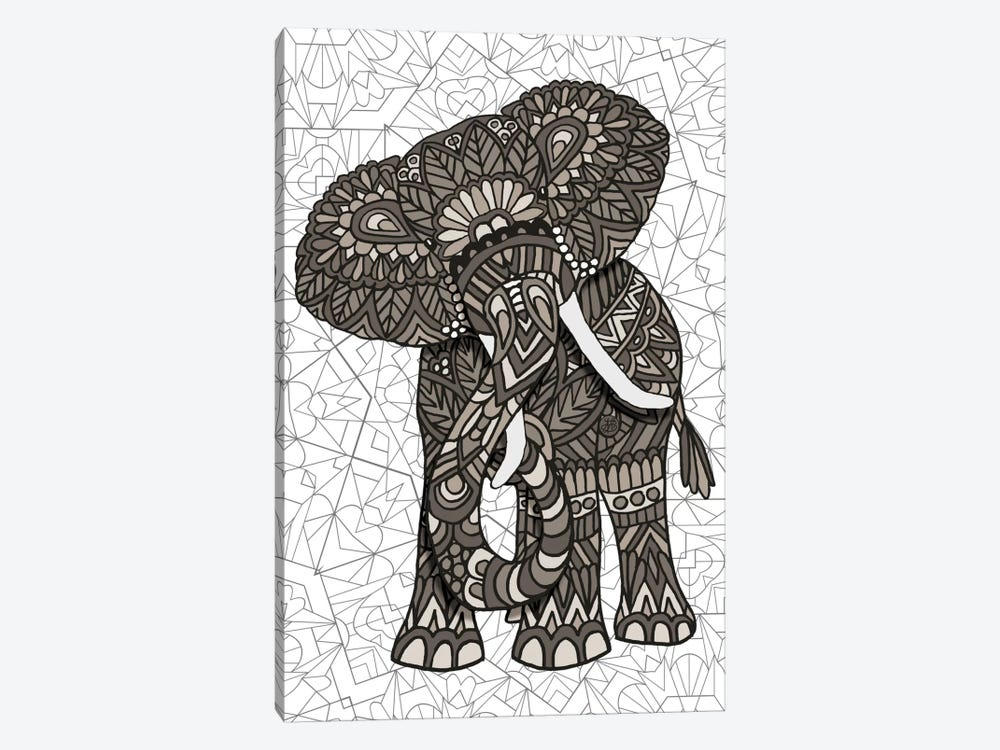 Elephant by Angelika Parker 1-piece Canvas Art Print