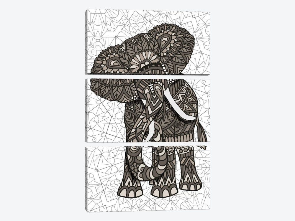 Elephant by Angelika Parker 3-piece Art Print