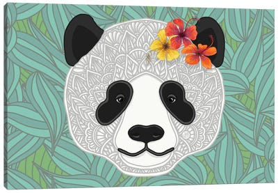 Tropical Panda Canvas Art Print