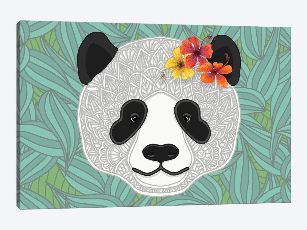 Tropical Panda by Angelika Parker 1-piece Canvas Print