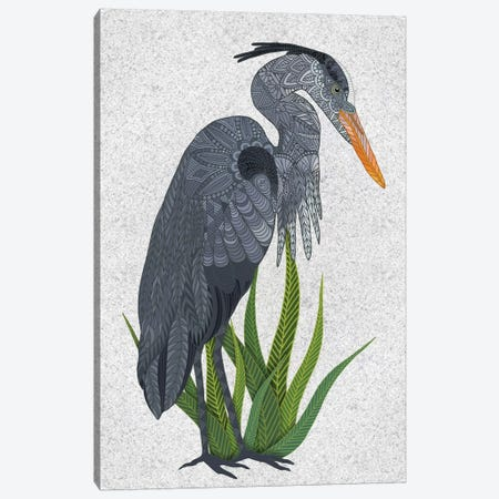 Great Blue Heron Canvas Print #ANG268} by Angelika Parker Canvas Artwork