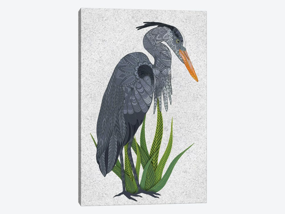Great Blue Heron by Angelika Parker 1-piece Canvas Wall Art