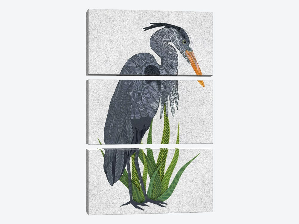 Great Blue Heron by Angelika Parker 3-piece Canvas Artwork