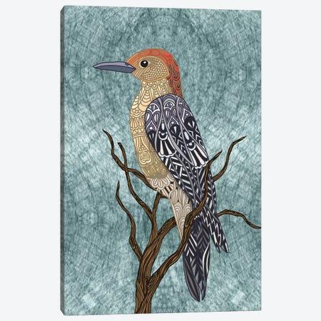 Woodpecker Bird Canvas Print #ANG269} by Angelika Parker Canvas Wall Art