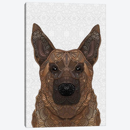 German Shepherd Canvas Print #ANG270} by Angelika Parker Canvas Print