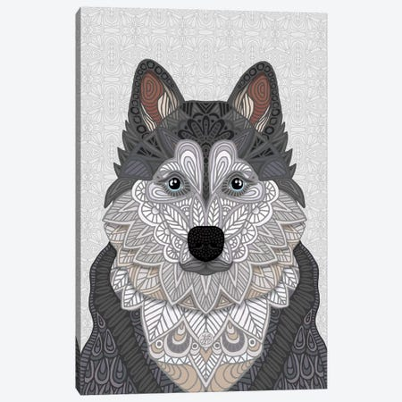 Husky Canvas Print #ANG271} by Angelika Parker Canvas Print