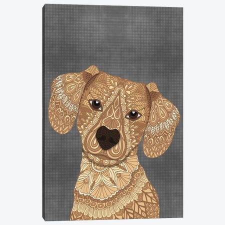 Wiener Dog Canvas Print #ANG272} by Angelika Parker Canvas Art Print
