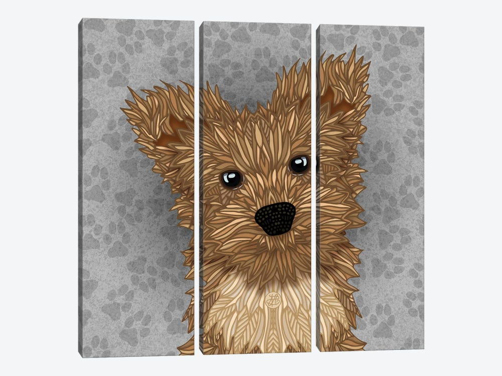 Huie Yorkie by Angelika Parker 3-piece Art Print