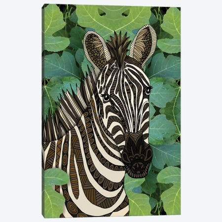 Zebra Canvas Print #ANG275} by Angelika Parker Canvas Wall Art